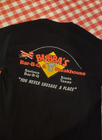 selling bubba's bbq and steakhouse t shirts and hats